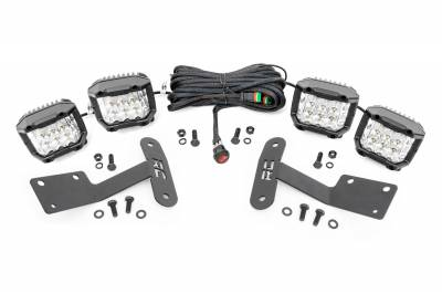 Exterior Lighting - Exterior LED Kit - Rough Country - Rough Country 70839 LED Lower Windshield Ditch Kit