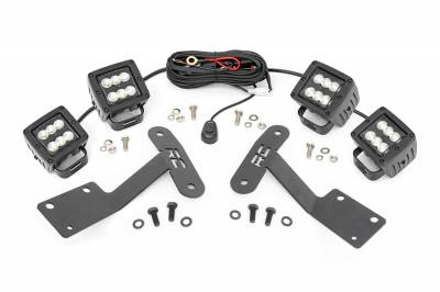 Exterior Lighting - Exterior LED Kit - Rough Country - Rough Country 70836 LED Lower Windshield Ditch Kit