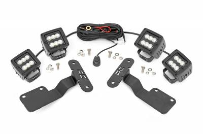 Exterior Lighting - Exterior LED Kit - Rough Country - Rough Country 70869 LED Lower Windshield Ditch Kit