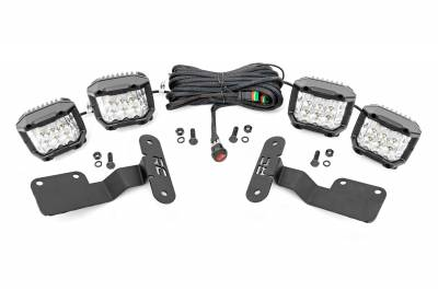 Exterior Lighting - Exterior LED Kit - Rough Country - Rough Country 70873 LED Lower Windshield Ditch Kit