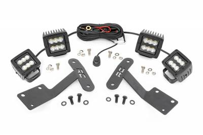 Exterior Lighting - Exterior LED Kit - Rough Country - Rough Country 70866 LED Lower Windshield Ditch Kit