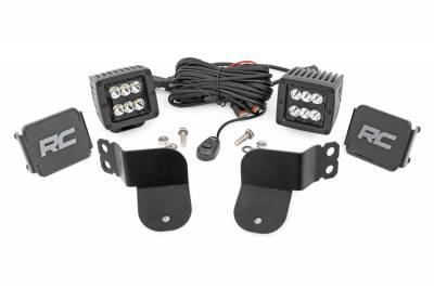 Exterior Lighting - Offroad/Racing Lamp Kit - Rough Country - Rough Country 93022 Black Series Cube Kit