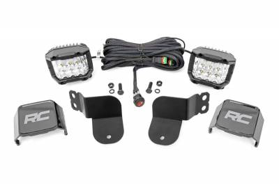 Exterior Lighting - Offroad/Racing Lamp Kit - Rough Country - Rough Country 93023 Osram Wide Angle Series Cube Kit