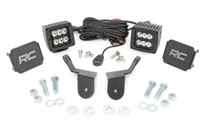 Exterior Lighting - Offroad/Racing Lamp Kit - Rough Country - Rough Country 92009 Black Series Cube Kit