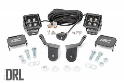 Exterior Lighting - Offroad/Racing Lamp Kit - Rough Country - Rough Country 92011 Black Series Cube Kit