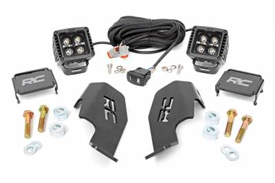 Exterior Lighting - Offroad/Racing Lamp Kit - Rough Country - Rough Country 92033 Black Series LED Kit