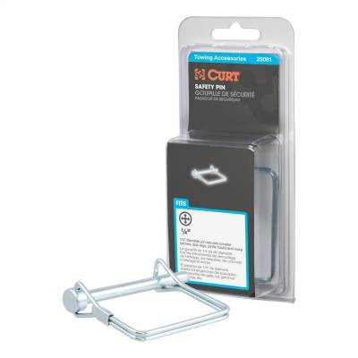 Trailer Hitch Accessories - Trailer Hitch Coupler Lock - CURT - CURT 25081 Coupler Safety Pin