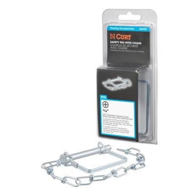 Trailer Hitch Accessories - Trailer Hitch Coupler Lock - CURT - CURT 25035 Coupler Safety Pin