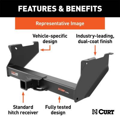 CURT - CURT 15860 Class V 2.5 in. Commercial Duty Hitch - Image 2