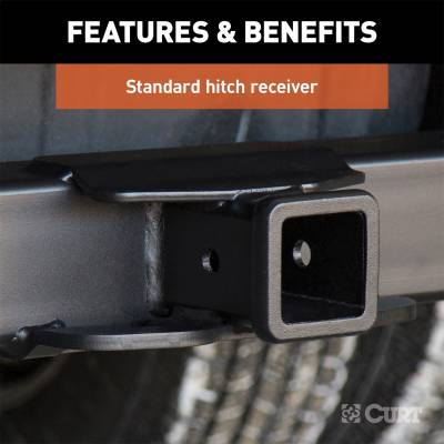 CURT - CURT 15860 Class V 2.5 in. Commercial Duty Hitch - Image 3