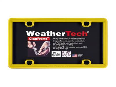 License Plate Accessories - License Plate Frame - WeatherTech - WeatherTech 8ALPCF14 ClearFrame