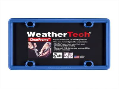 License Plate Accessories - License Plate Frame - WeatherTech - WeatherTech 8ALPCF21 ClearFrame