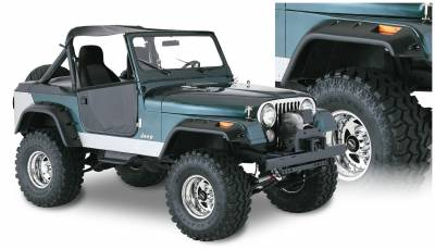 Fender Flare - Fender Flare - Bushwacker - Bushwacker 10910-07 Cut-Out Fender Flares