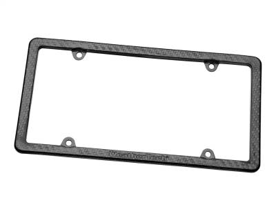 License Plate Accessories - License Plate Frame - WeatherTech - WeatherTech 8ALPCF4 Carbon Fiber License Plate Frame