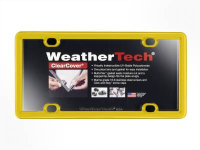 License Plate Accessories - License Plate Cover - WeatherTech - WeatherTech 8ALPCC14 ClearCover