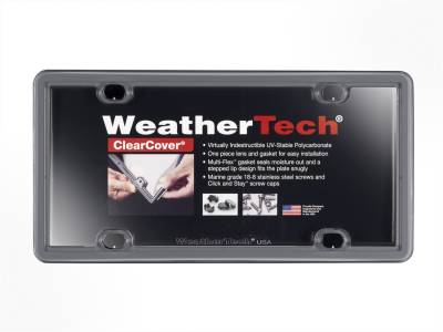 License Plate Accessories - License Plate Cover - WeatherTech - WeatherTech 8ALPCC15 ClearCover
