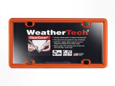 License Plate Accessories - License Plate Cover - WeatherTech - WeatherTech 8ALPCC13 ClearCover