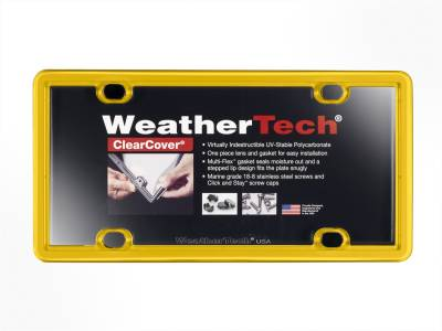 License Plate Accessories - License Plate Cover - WeatherTech - WeatherTech 8ALPCC17 ClearCover