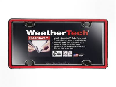 License Plate Accessories - License Plate Cover - WeatherTech - WeatherTech 60022 ClearCover