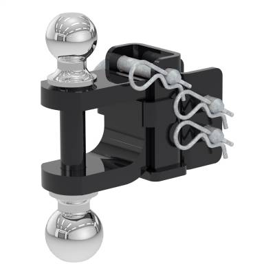 Trailer Hitch Accessories - Trailer Hitch Ball Mount - CURT - CURT 45008 Dual-Ball And Clevis Bar Mount