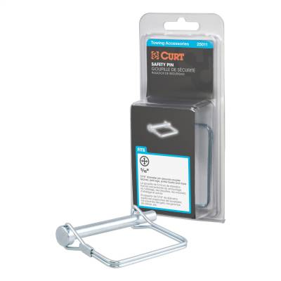 Trailer Hitch Accessories - Trailer Hitch Coupler Lock - CURT - CURT 25011 Coupler Safety Pin