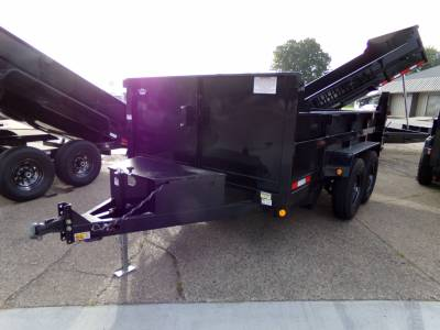 2022 Quality Steel & Aluminum 7x12 Low Profile Dump Trailer 12K Dual Ram