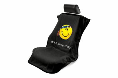 Seat Armour - Seat Armour - Seat Armour Jeep Black Smiley Towel Seat Cover