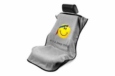 Seat Armour - Seat Armour - Seat Armour Jeep Grey Smiley Towel Seat Cover