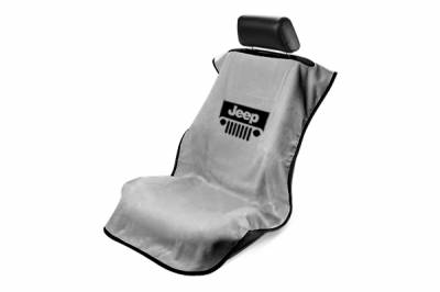Seat Armour - Seat Armour - Seat Armour Jeep Grey With Grille Towel Seat Cover