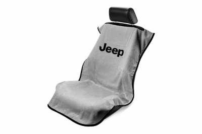 Seat Armour - Seat Armour - Seat Armour Jeep Grey Without Grille Towel Seat Cover