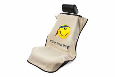 Seat Armour - Seat Armour - Seat Armour Jeep Tan Smiley Face Towel Seat Cover