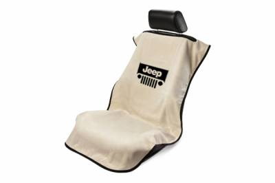 Seat Armour - Seat Armour - Seat Armour Jeep Tan With Grille Towel Seat Cover