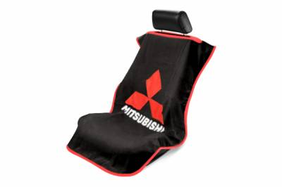 Seat Armour - Seat Armour - Seat Armour Mitsubishi Black Towel Seat Cover