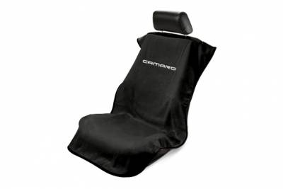 Seat Armour - Seat Armour Camaro Black Towel Seat Cover