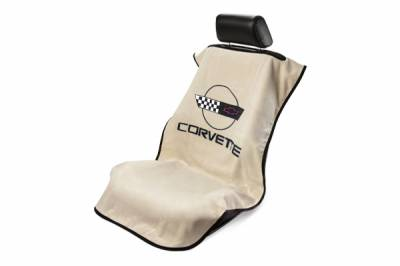 Seat Armour - Seat Armour - Seat Armour Corvette C4 Tan Towel Seat Cover