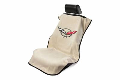 Seat Armour - Seat Armour Corvette C5 Tan Towel Seat Cover