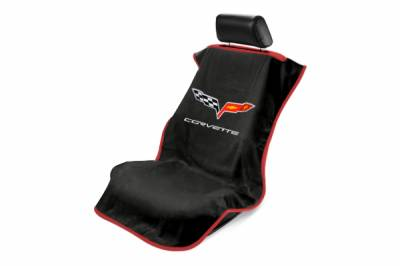 Seat Armour - Seat Armour - Seat Armour Corvette C6 Black Towel Seat Cover