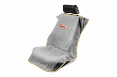 Seat Armour - Seat Armour - Seat Armour Corvette C6 Z06 Grey Towel Seat Cover