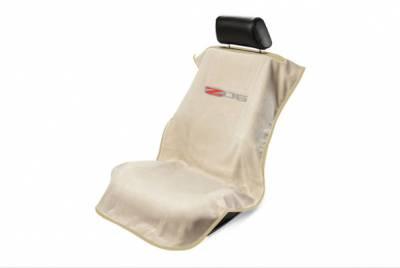 Seat Armour - Seat Armour - Seat Armour Corvette C6 Z06 Tan Towel Seat Cover