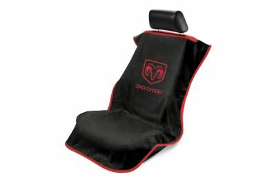 Seat Armour - Seat Armour - Seat Armour Dodge Black Towel Seat Cover