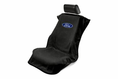 Seat Armour - Seat Armour Ford Black Towel Seat Cover