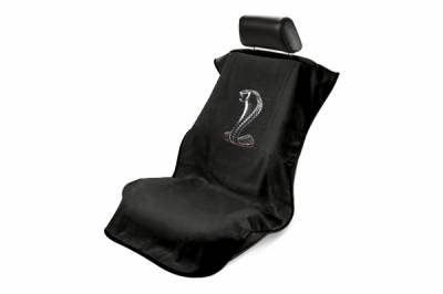 Seat Armour - Seat Armour Ford Mustang Cobra Black Towel Seat Cover