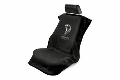 Seat Armour - Seat Armour - Seat Armour Ford Mustang Cobra Black Towel Seat Cover