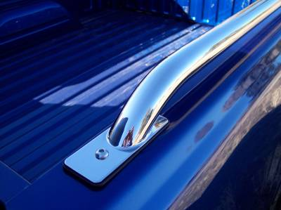 Raptor Stainless Bed Rails - Chevrolet Applications (Raptor Bed Rails) - Raptor - Raptor Stainless Steel Bed Rails Chevrolet Colorado 04-13 5.8 Bed (Drilling Reqd.)