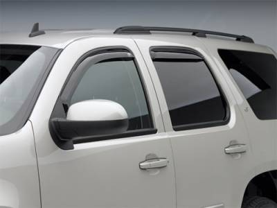 EGR In Channel Window Vent Visors - Chevrolet Applications (EGR In Channel) - EGR - EGR Smoke In Channel Window Vent Visors Chevrolet Silverado 07-10 Crew Cab (4-Piece Set)