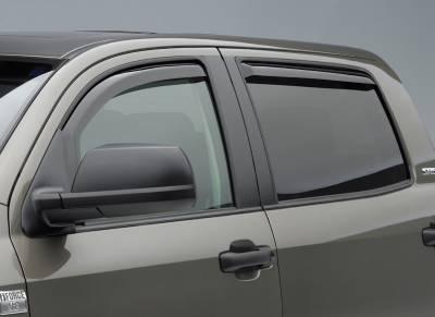 EGR In Channel Window Vent Visors - GMC Applications (EGR In Channel) - EGR - EGR Smoke In Channel Window Vent Visors GMC Sierra 07-10 Extended Cab (4-Piece Set)