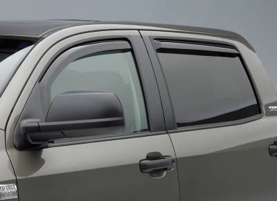 EGR In Channel Window Vent Visors - Ford Applications (EGR In Channel) - EGR - EGR Smoke In Channel Window Vent Visors Ford F150 04-08 Extended Cab 04-08 (w/ rear power windows only) (4-Piece Set)