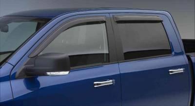 EGR - EgR Smoke Tape On Window Vent Visors Dodge Dakota 05-10 Extended Cab (4-pc Set) - Image 2